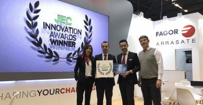 El proyecto colaborativo de FAGOR ARRASATE de un sistema de máquina consolidadora ultra-rápida recibe el premio JEC Innovation Award