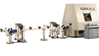 GEKA Gamma Roller 160-3P / ALPS, línea CNC para perfiles medios y grandes