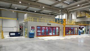 BIELE Handling & stacking system for shear press lines