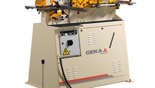 GEKA Minicrop, punzonadora hidráulica con 4 áreas de trabajo