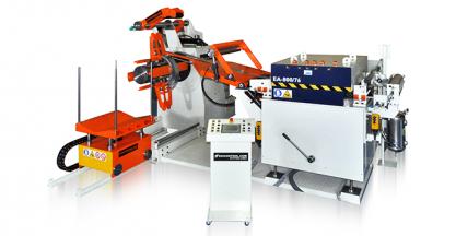 EKICONTROL presented at BlechExpo a compact press feeding line model EA800/76