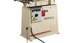 GEKA Microcrop, one-cylinder hydraulic ironworker with three work areas