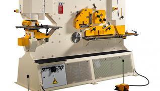 GEKA Hydracrop, universal two-cylinder ironworkers and five work stations