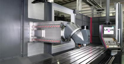 LAGUN MACHINE TOOLS, S.L. fabricante de fresadoras CNC de bancada fija y columna móvil (Hall 13, stand A58)