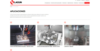 Nueva web de Lagun Machinery