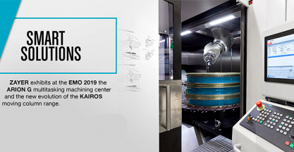 ZAYER presenta sus últimos avances en soluciones de mecanizado de primer nivel en la EMO 2019