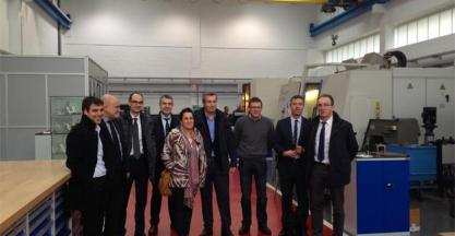 Visit by the Head of the Provincial Council of Guipuzcoa, Market Olano, to machine-tool sector companies of Guipuzcoa.