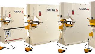 GEKA Puma Series, cizalla punzonadora con 5 velocidades de potencia