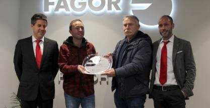 FAGOR ARRASATE presents the award to the best supplier 2017
