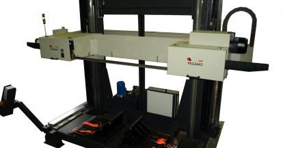 Pegamo Steel Solutions develops a heat-exchanger cutting machine.