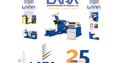 LARA , AUTOMATIZACION DE PRENSAS, S.L. launches its new website.