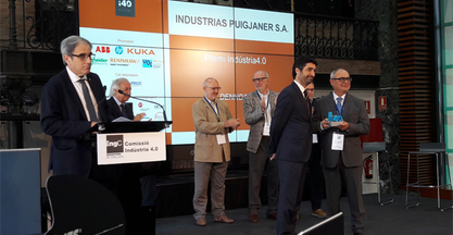 "INDUSTRIAS PUIGJANER – DENN awarded with the First ""Industria4.0"" Prize"