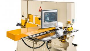 GEKA Semipaxy, posicionador CNC para punzonadora que permite posicionamiento del material mediante topes