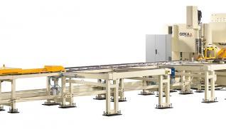 GEKA Alfa 500, línea CNC especialmente fabricada para el procesado de llantas