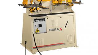GEKA Multicrop, hydraulic ironworker specialized in cutting at 45º
