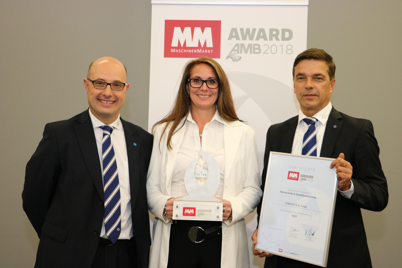 """SORALUCE ha sido galardonado con el premio """"MM zur AMB 2018"""""""