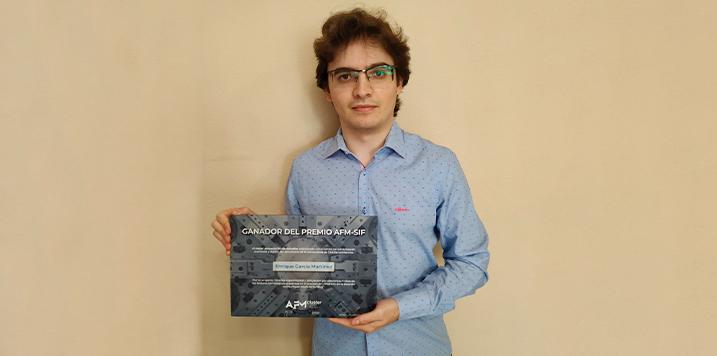AFM CLUSTER entrega el premio al mejor proyecto fin de estudios 2020 a Enrique García Martínez