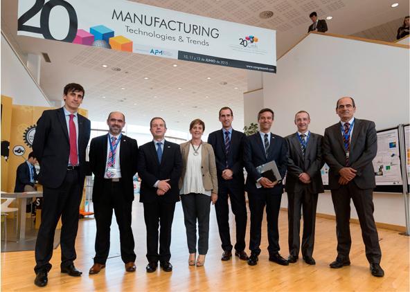 La Consejera de Desarrollo Económico y Competitividad, Arantxa Tapia clausura el Congreso de Máquinas-herramienta