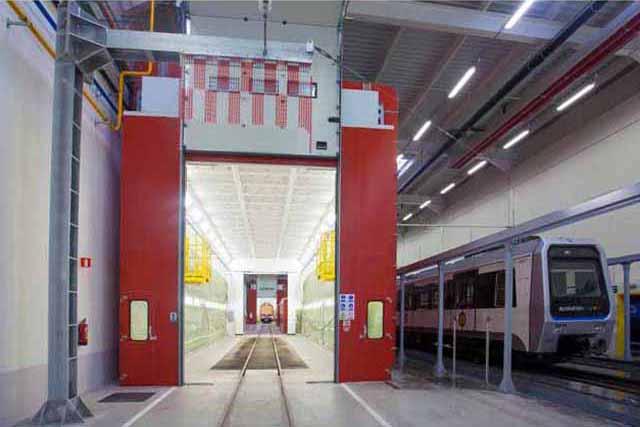 Instalación GEINSA para limpieza de banda a alta velocidad para Siemens