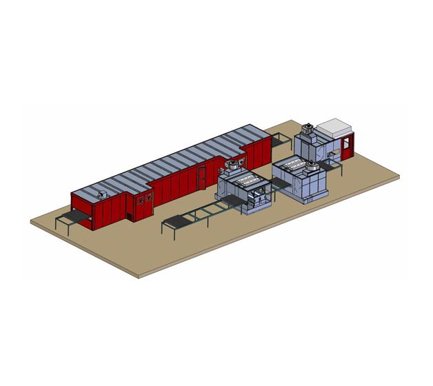 Instalación de pintado y secado de GEINSA para sistemas de impermeabilización