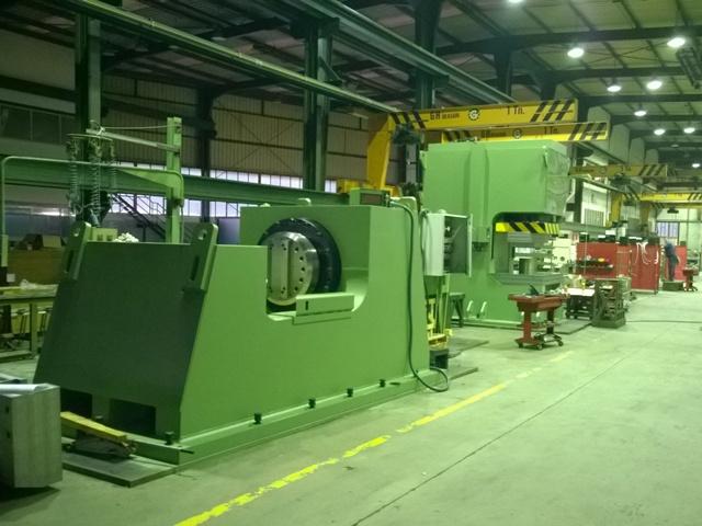 IBERMACH Special Machinery, empresa del Grupo Erlo entrega dos prensas hidráulicas a Gestamp Brasil