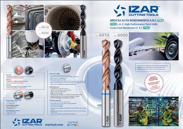 Nuevas brocas IZAR de polvo metalúrgico sinterizado