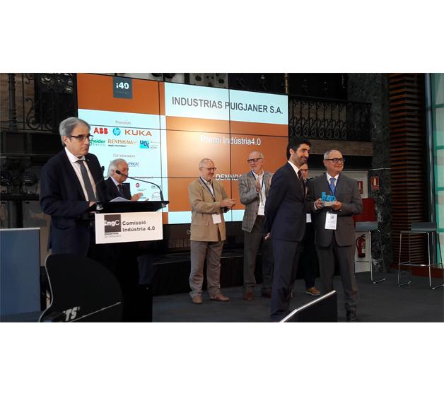 """INDUSTRIAS PUIGJANER S.A. galardonada con el primer premio """"Indústria4.0"""""""