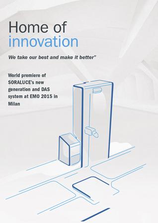EMO 2015: SORALUCE se consolida como Home of Innovation con nuevos conceptos que revolucionarán la máquina herramienta - Hall 1, stand C20