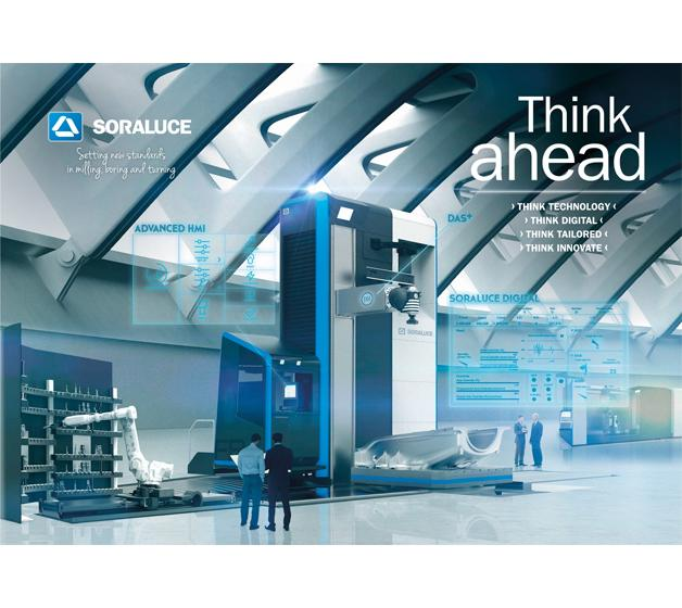 Think ahead: el entorno digital en fresado, mandrinado y torneado, la visión de futuro de SORALUCE en la EMO 2017 (Hall 13, B36)