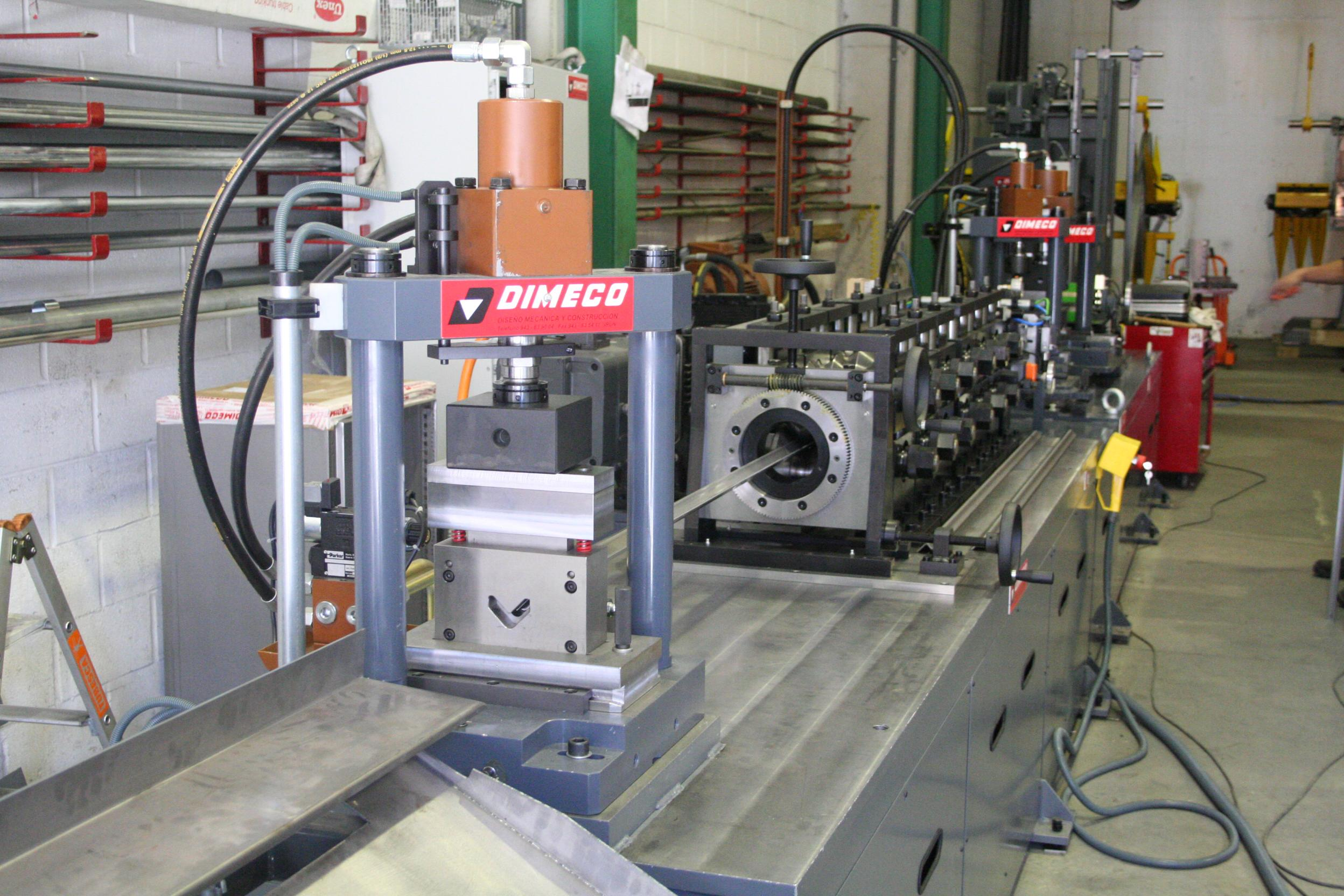 MANUFACTURING LINE FOR DIFFERENT COLD ROLLED PROFILES FOR ASSEMBLY OF SOLAR PANELS STRUCTURES DIMECO