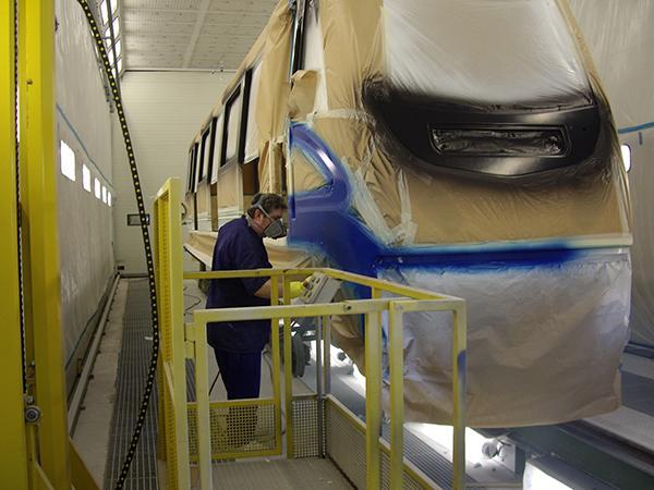 Líneas automáticas de secado, granallado y pintura de vigas GEINSA_TRATAMIENTO_SUPERFICIES