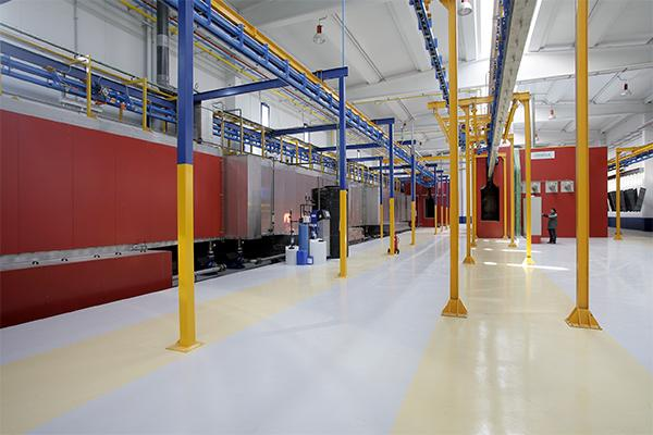 Automatic lines for drying, blasting and painting beams GEINSA_TREATMENT_SECTOR