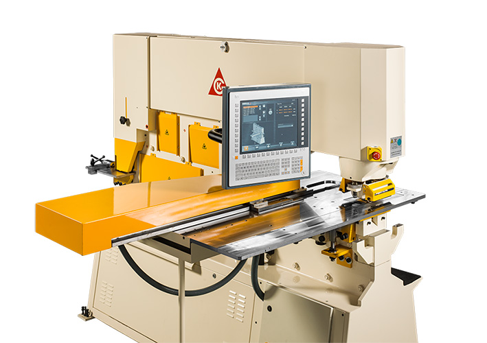 Semipaxy, CNC positioning technology to punching of steel for ironworkers