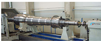 HORIZONTAL LATHE GURUTZPE TURBINES SHAFT MODEL