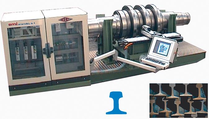 ENGRAVING SYSTEM OF ROLLERS FOR ROLLED RAILS