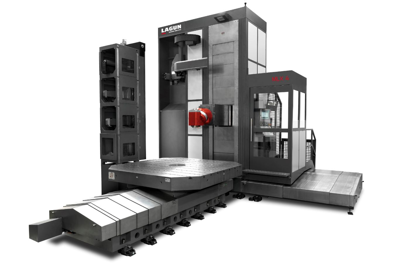 Travelling column milling machines MLX - Floor type milling machine with automatic head change