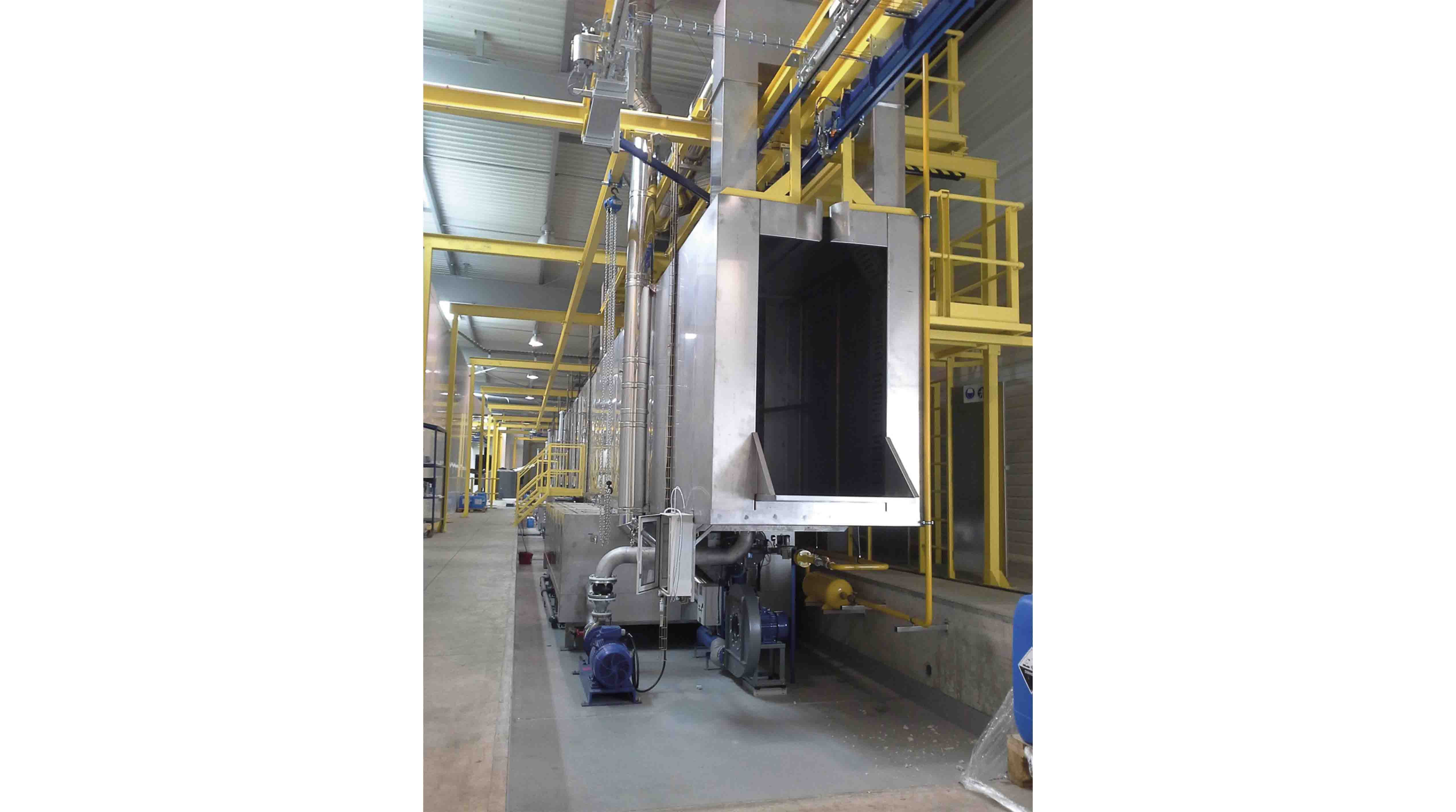 Surface and paint treatment lines AUTOMATIC INSTALLATIONS: Surface treatment tunnels