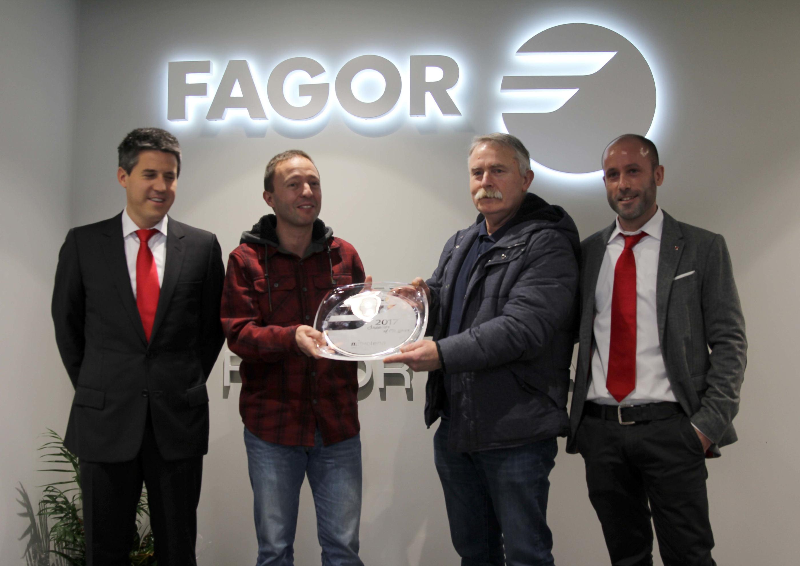 FAGOR ARRASATE entrega el premio al mejor proveedor del año 2017