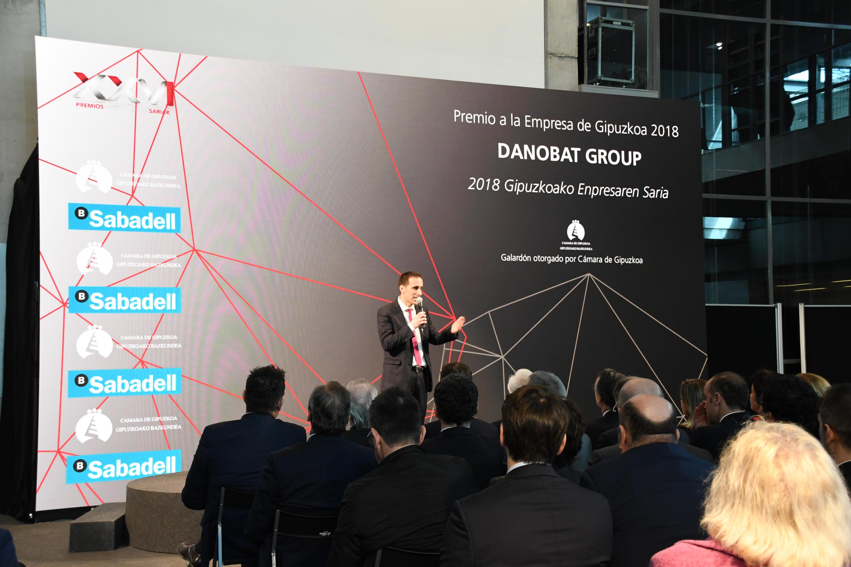 DANOBATGROUP recibe el premio Empresa de Gipuzkoa 2018